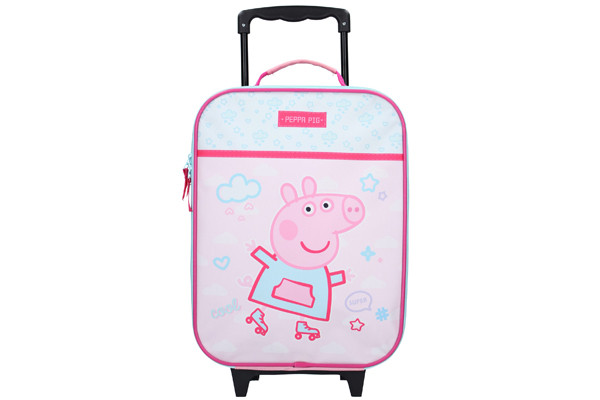 Kinderkoffer Peppa Pig roze-blauw.
