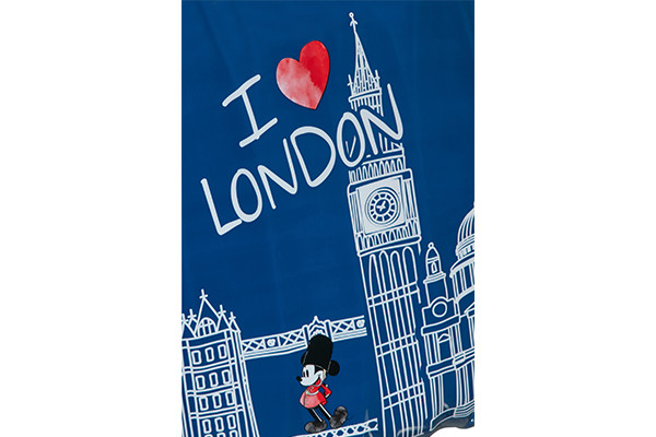 Mickey Mouse in Londen design.